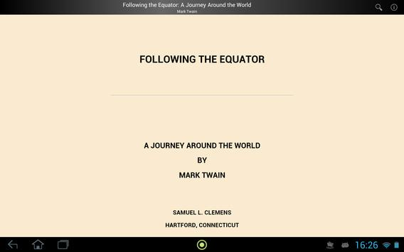 Following the Equator apk screenshot