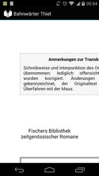 Bahnwärter Thiel poster
