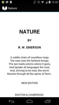 Nature by Emerson poster