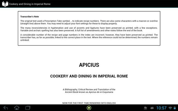 Cookery in Imperial Rome apk screenshot