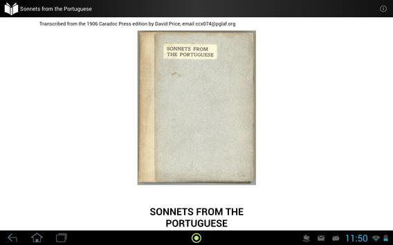 Sonnets from the Portuguese apk screenshot