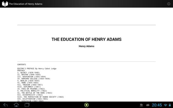 The Education of Henry Adams apk screenshot