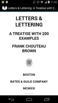 Letters and Lettering poster