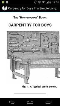 Carpentry for Boys poster