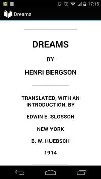Dreams by Bergson poster