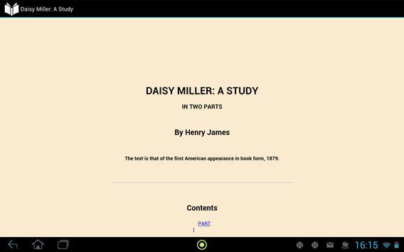 Daisy Miller: A Study apk screenshot