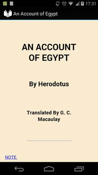 An Account of Egypt poster