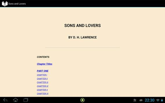 Sons and Lovers apk screenshot