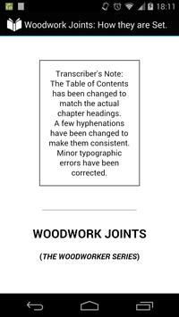 Woodwork Joints poster