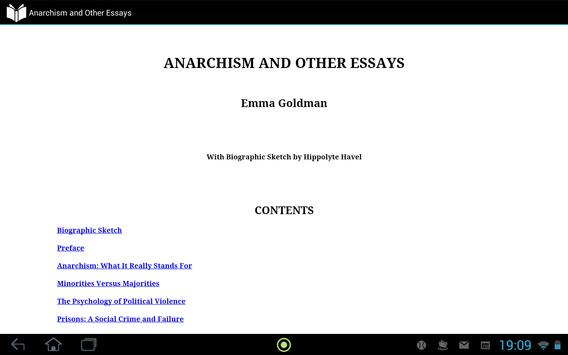 Anarchism and Other Essays apk screenshot