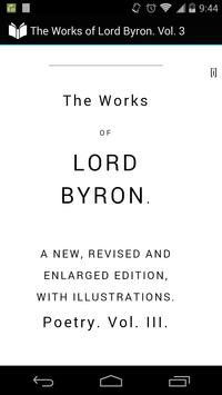 The Works of Lord Byron Vol. 3 poster