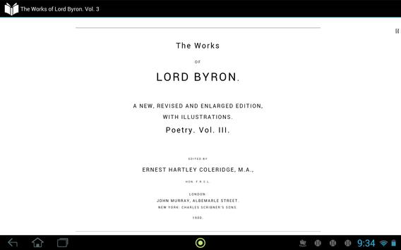 The Works of Lord Byron Vol. 3 apk screenshot