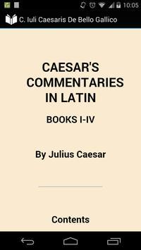 C. Caesaris De Bello Gallico poster