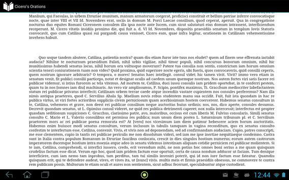 Cicero's Orations apk screenshot