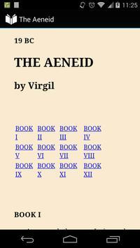 Virgil's Aeneid in English poster