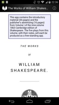 Works of William Shakespeare 1 poster