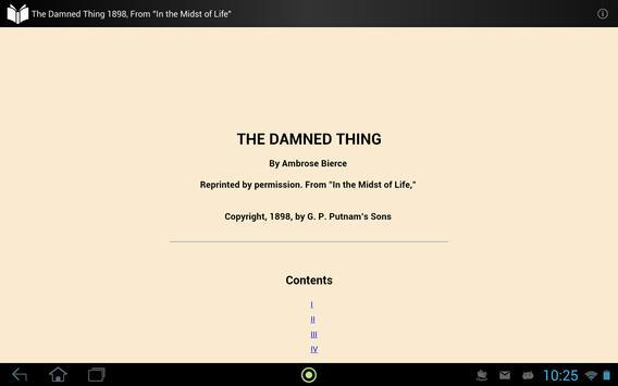 The Damned Thing apk screenshot