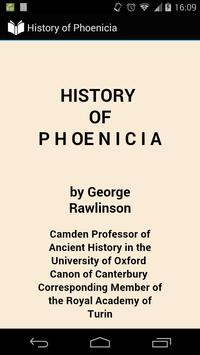 History of Phoenicia poster