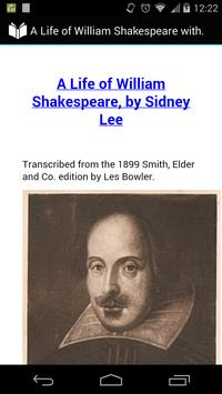 A Life of William Shakespeare poster