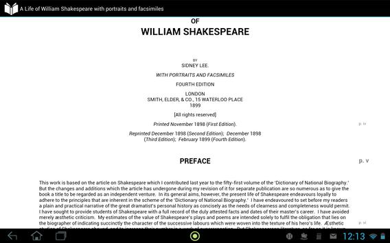 A Life of William Shakespeare apk screenshot