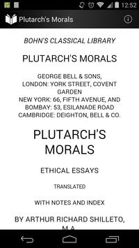 Plutarch's Morals poster