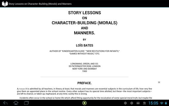 Character-Building and Manners apk screenshot