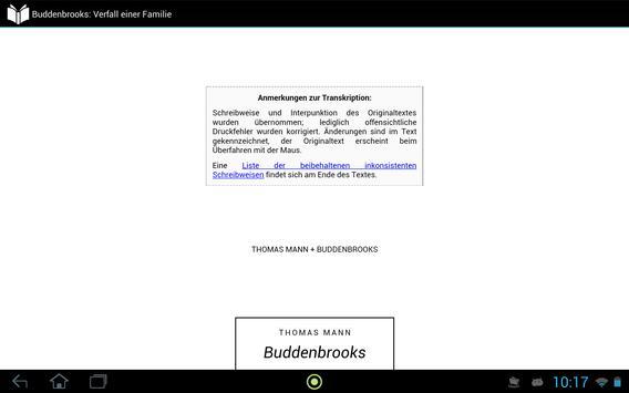 Buddenbrooks apk screenshot