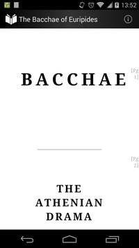 The Bacchae of Euripides poster