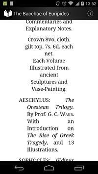 The Bacchae of Euripides apk screenshot