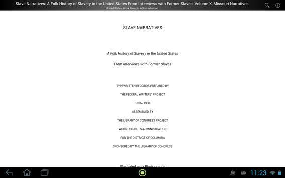 Slave Narratives 10 apk screenshot