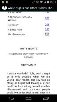 White Nights by Dostoyevsky apk screenshot