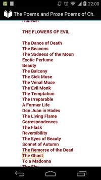 Poems of Charles Baudelaire apk screenshot