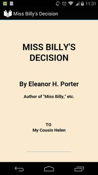 Miss Billy's Decision poster