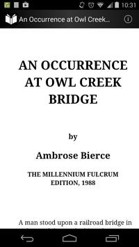 Occurrence at Owl Creek Bridge poster