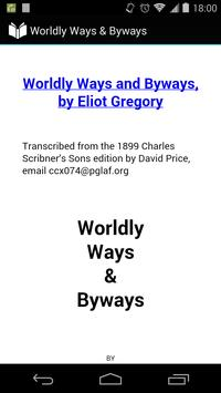 Worldly Ways & Byways poster