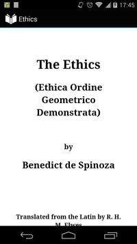 Ethics by Spinoza poster