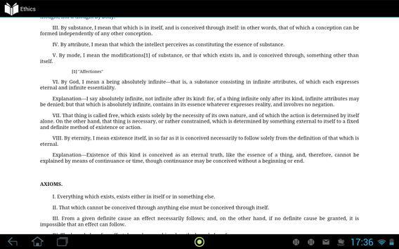 Ethics by Spinoza apk screenshot