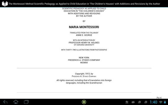 The Montessori Method apk screenshot