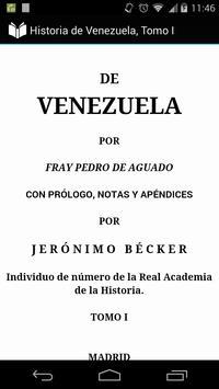 Historia de Venezuela, Tomo I apk screenshot