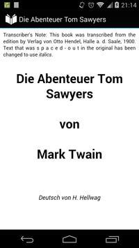 Die Abenteuer Tom Sawyers poster