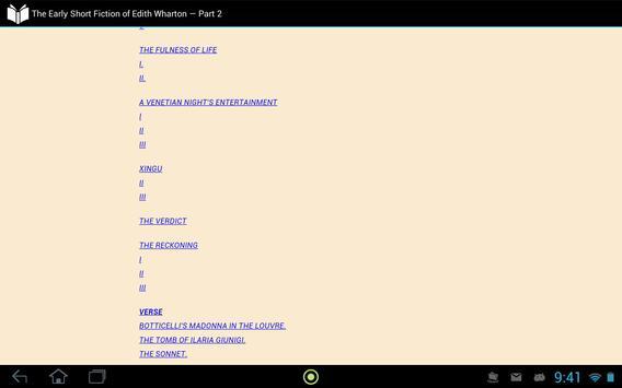 Edith Wharton — Part 2 apk screenshot