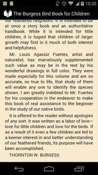 The Bird Book for Children apk screenshot