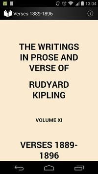 Verses of Rudyard Kipling poster