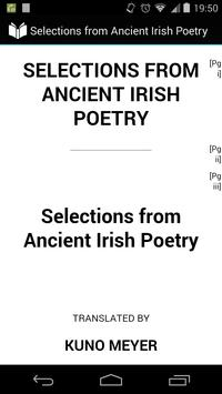 Ancient Irish Poetry poster