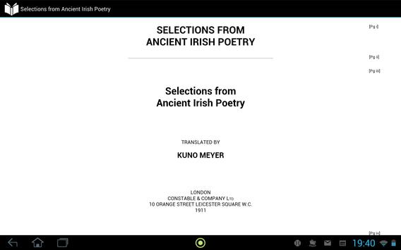 Ancient Irish Poetry apk screenshot