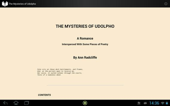 The Mysteries of Udolpho apk screenshot