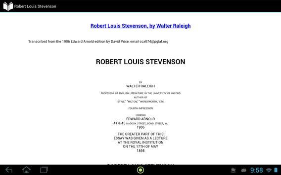 Robert Louis Stevenson apk screenshot
