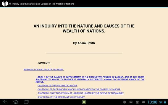 Nature and Causes of Wealth apk screenshot