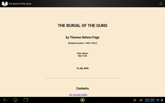 The Burial of the Guns apk screenshot