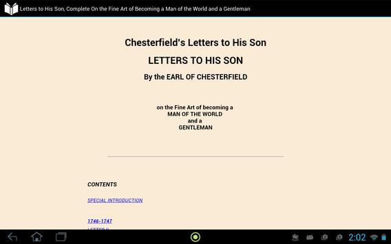Letters to His Son apk screenshot